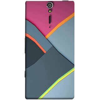 FUSON Designer Back Case Cover for Sony Xperia SL :: Sony Xperia S :: Sony Xperia SL LT26I LT26ii (Bright Beautiful Colour Strips And Band Wave Triangle)