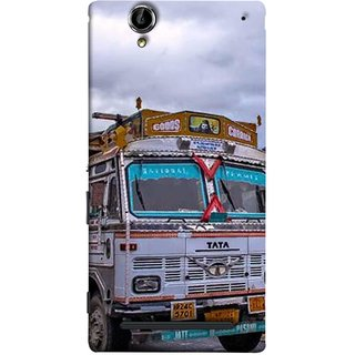 FUSON Designer Back Case Cover for Sony Xperia T2 Ultra :: Sony Xperia T2 Ultra Dual SIM D5322 :: Sony Xperia T2 Ultra XM50h (Decorated Goods Carrier On Mountain Road In The Himalayas )