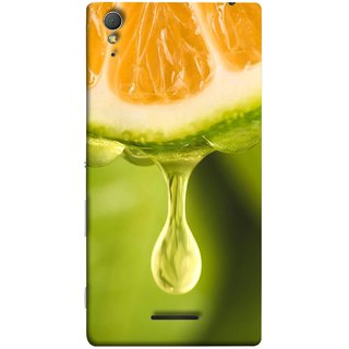 FUSON Designer Back Case Cover for Sony Xperia T3 (Orange Juice Dripping Slice Citrus Fruit Flesh)