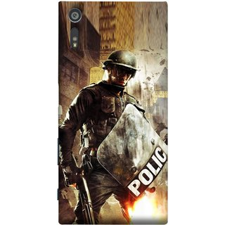 FUSON Designer Back Case Cover for Sony Xperia XR (Photograph Movie Scene Anti Terror Sqad Attacks )