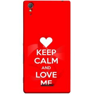 FUSON Designer Back Case Cover for Sony Xperia T3 (Beautiful Hearts Always Stay Silent And Love Other Work Resolve)
