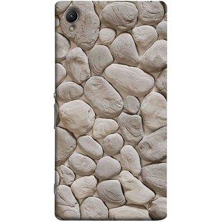 FUSON Designer Back Case Cover for Sony Xperia XA :: Sony Xperia XA Dual (Landscape River Old Rock Sizes Irregular Shapes Mat)