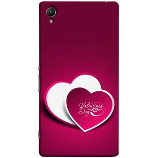 FUSON Designer Back Case Cover for Sony Xperia XA :: Sony Xperia XA Dual (Just Pinky Say Always I Love You Red Hearts Couples)