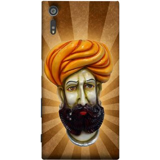 FUSON Designer Back Case Cover for Sony Xperia XR (Vector Illustration Turban Headdress And Mustache Isolated)
