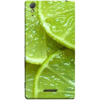 FUSON Designer Back Case Cover for Sony Xperia T3 (Lemon Agriculture Background Bud Candy Cell)