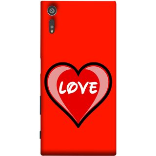 FUSON Designer Back Case Cover for Sony Xperia XR (Pink Red Wallpapers Flowers Lovers Boyfriends )