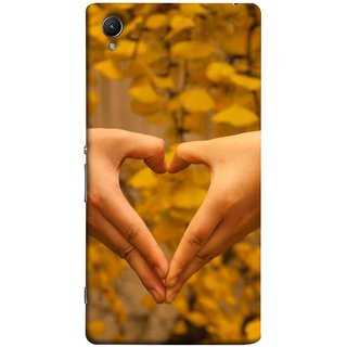 FUSON Designer Back Case Cover for Sony Xperia XA :: Sony Xperia XA Dual (Close Up Male And Female Hands Making Heart Shape)