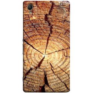 FUSON Designer Back Case Cover for Sony Xperia XA :: Sony Xperia XA Dual (Lot Of Cracks In Tree Wood Wild Old Tree)