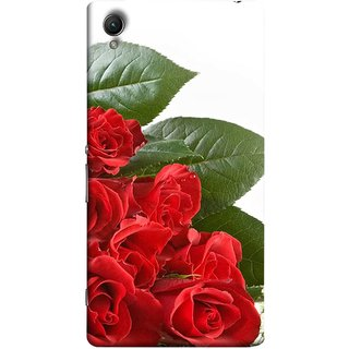 FUSON Designer Back Case Cover for Sony Xperia X :: Sony Xperia X Dual F5122 (Close Up Red Roses Chocolate Hearts For Valentines Day)