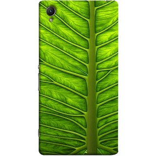 FUSON Designer Back Case Cover for Sony Xperia X :: Sony Xperia X Dual F5122 (Bright Green Leaf Of Tree Full Of Life Network Of Veins)