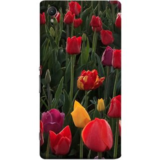FUSON Designer Back Case Cover for Sony Xperia X :: Sony Xperia X Dual F5122 (Dark Bold Red Roses Chocolate Hearts For Valentines Day)