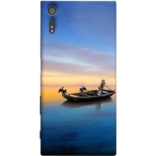 FUSON Designer Back Case Cover for Sony Xperia XR (Water Sea Sky Beautiful Boat Cruise Horizon )