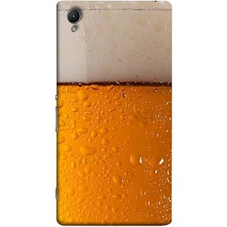 FUSON Designer Back Case Cover for Sony Xperia X :: Sony Xperia X Dual F5122 (Cold Chilled Beer Glass Tub Pint Bubbles Full)