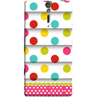 FUSON Designer Back Case Cover for Sony Xperia SL :: Sony Xperia S :: Sony Xperia SL LT26I LT26ii (Loopable Background With Nice Glowing Spectrum)