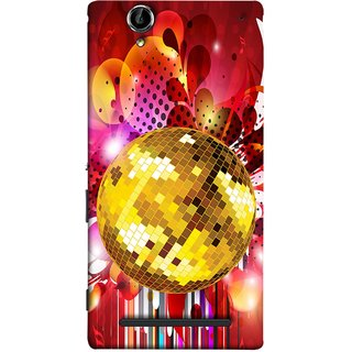 FUSON Designer Back Case Cover for Sony Xperia T2 Ultra :: Sony Xperia T2 Ultra Dual SIM D5322 :: Sony Xperia T2 Ultra XM50h (Music Disco Party Poster Red Shiny Abstract Party Design)