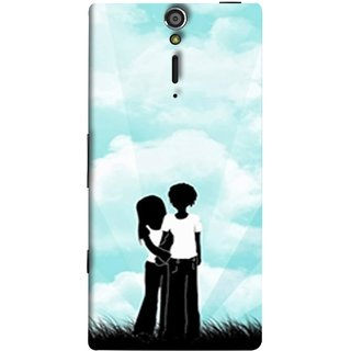 FUSON Designer Back Case Cover for Sony Xperia SL :: Sony Xperia S :: Sony Xperia SL LT26I LT26ii (Boyfriend Girlfriend Together Always Evening Life)