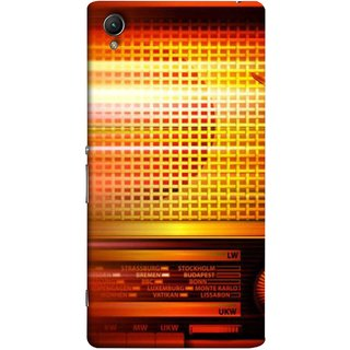 FUSON Designer Back Case Cover for Sony Xperia X :: Sony Xperia X Dual F5122 (Blur Music Background With Retro Radio Antique )