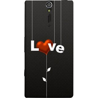 FUSON Designer Back Case Cover for Sony Xperia SL :: Sony Xperia S :: Sony Xperia SL LT26I LT26ii (Red Hearts Hanging Ropes Free Love Tree Multicolour)