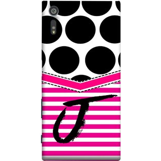 FUSON Designer Back Case Cover for Sony Xperia XR (Beautiful Cute Nice Couples Pink Design Paper Girly J)
