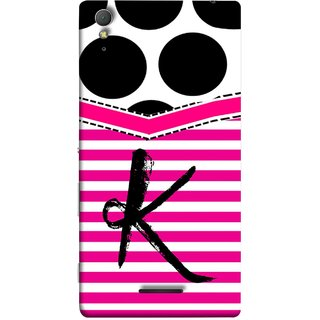 FUSON Designer Back Case Cover for Sony Xperia T3 (Beautiful Cute Nice Couples Pink Design Paper Girly K)