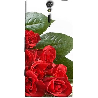 FUSON Designer Back Case Cover for Sony Xperia SL :: Sony Xperia S :: Sony Xperia SL LT26I LT26ii (Close Up Red Roses Chocolate Hearts For Valentines Day)