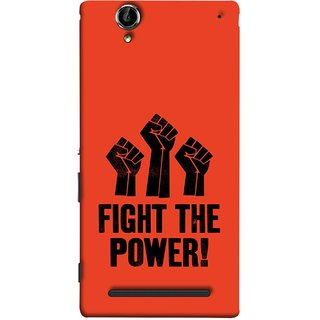FUSON Designer Back Case Cover for Sony Xperia T2 Ultra :: Sony Xperia T2 Ultra Dual SIM D5322 :: Sony Xperia T2 Ultra XM50h (Always Fight For Truth Justice Will Stand Tall In Sky )
