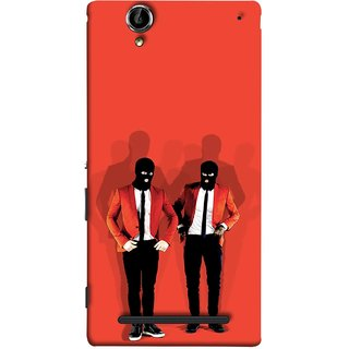 FUSON Designer Back Case Cover for Sony Xperia T2 Ultra :: Sony Xperia T2 Ultra Dual SIM D5322 :: Sony Xperia T2 Ultra XM50h (Coat Pant Trouser Shadow Light White Shoes Posing )