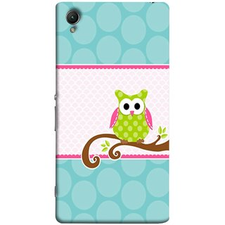 FUSON Designer Back Case Cover for Sony Xperia XA :: Sony Xperia XA Dual (Birds Sitting Alone Waiting For Partner Leaves Leaf)