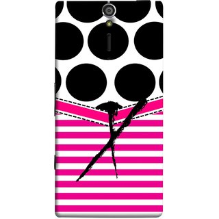 FUSON Designer Back Case Cover for Sony Xperia SL :: Sony Xperia S :: Sony Xperia SL LT26I LT26ii (Beautiful Cute Nice Couples Pink Design Paper Girly)