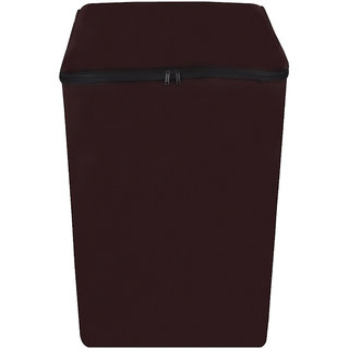 Glassiano coffee colored Waterproof & Dustproof Washing Machine Cover For LG Fully Automatic Top Load Splendor60  6.5kg washing machine