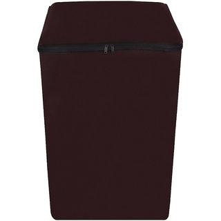 Glassiano coffee colored Waterproof & Dustproof Washing Machine Cover For Samsung Fully Automatic Top Load WA62K4000HD 6.2kg washing machine