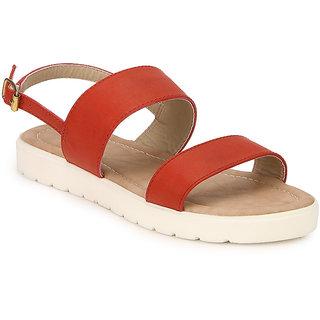 NX Footwear Women's Red Sandal