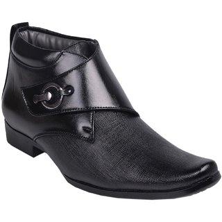 Aadi Black Well Formal Shoes