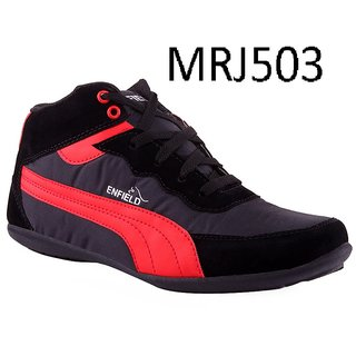 Aadi New Look Black Red Sporty Shoes