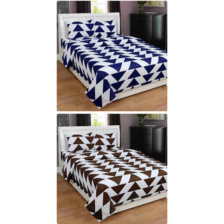 Furnishing Zone New 100% Cotton 90x90 Inches 2 Double Bedsheet With 4 Pillow Covers_FZAHCottonDBCOMB492