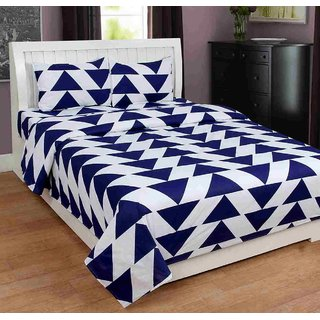 Furnishing Zone New 100% Cotton 90x90 Inches 1 Double Bedsheet With 2 Pillow Covers_FZAHCottonDBR033