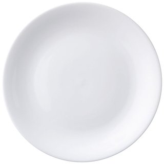 Rak Nano White Flat Plate Dinnerware Quarter / Snacks Plate (Set Of 6) COM000096