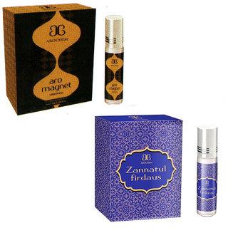Set Of 2 Arochem Zannatul Firdaus And Aro Magnet Attar fragrance perfume 6 ml alcohol free essence oil