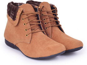 Trendy Look Tan Fur Casual Boots