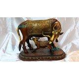 Cow & Cattle Statue Antique Finish