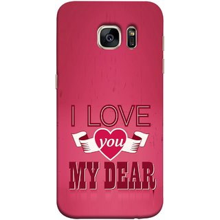 FUSON Designer Back Case Cover for Samsung Galaxy S7 Edge :: Samsung Galaxy S7 Edge Duos :: Samsung Galaxy S7 Edge G935F G935 G935Fd  (Pyar Hai Tumse Heart Pink Red True )