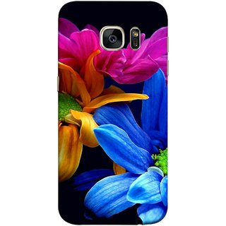 FUSON Designer Back Case Cover for Samsung Galaxy S7 :: Samsung Galaxy S7 Duos :: Samsung Galaxy S7 G930F G930 G930Fd (Colourful Wow Hd Gerbera Flowers Pink Blur Orange)