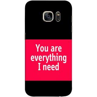 FUSON Designer Back Case Cover for Samsung Galaxy S7 Edge :: Samsung Galaxy S7 Edge Duos :: Samsung Galaxy S7 Edge G935F G935 G935Fd  (Tu Tum Aap Mere Liye Sub Kuch Maze Vishwa )