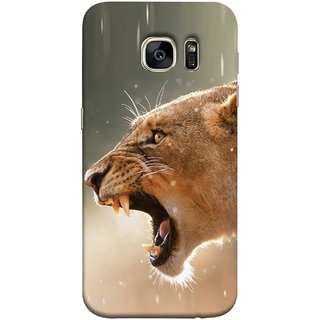 FUSON Designer Back Case Cover for Samsung Galaxy S7 :: Samsung Galaxy S7 Duos :: Samsung Galaxy S7 G930F G930 G930Fd (Tiger Lion Chitta Angrily Looking Killer Hunter Shikari)