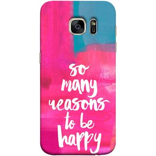 FUSON Designer Back Case Cover for Samsung Galaxy S7 Edge :: Samsung Galaxy S7 Edge Duos :: Samsung Galaxy S7 Edge G935F G935 G935Fd  (Oil Painting Canvas Best Quotes Words Find Happiness)