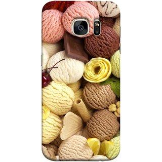 FUSON Designer Back Case Cover for Samsung Galaxy S7 :: Samsung Galaxy S7 Duos :: Samsung Galaxy S7 G930F G930 G930Fd (Cool Desserts Flavors Banana Chocolate Chips)