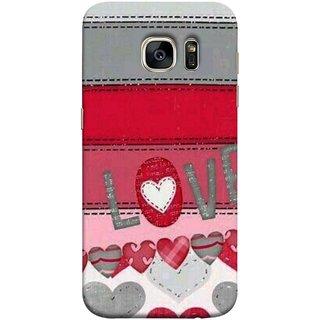 FUSON Designer Back Case Cover for Samsung Galaxy S7 Edge :: Samsung Galaxy S7 Edge Duos :: Samsung Galaxy S7 Edge G935F G935 G935Fd  (Love Birds Couples Forever Full Of Love Pyar Valentine)