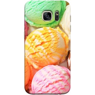 FUSON Designer Back Case Cover for Samsung Galaxy S7 :: Samsung Galaxy S7 Duos :: Samsung Galaxy S7 G930F G930 G930Fd (Colourful Ice Cream Berry Cherry Pista Flavours )