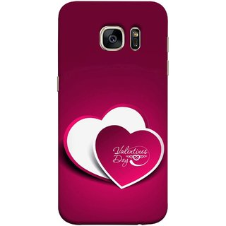 FUSON Designer Back Case Cover for Samsung Galaxy S7 Edge :: Samsung Galaxy S7 Edge Duos :: Samsung Galaxy S7 Edge G935F G935 G935Fd  (Just Pinky Say Always I Love You Red Hearts Couples)