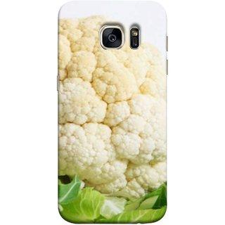 FUSON Designer Back Case Cover for Samsung Galaxy S7 Edge :: Samsung Galaxy S7 Edge Duos :: Samsung Galaxy S7 Edge G935F G935 G935Fd  (Organic Cauliflower Background Table Farmer Subji)
